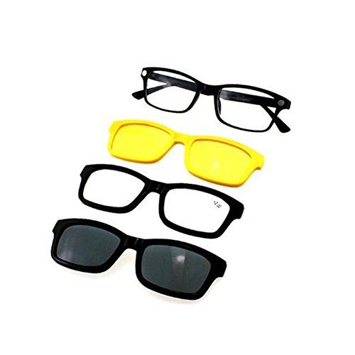 Haodasi 4 in 1 Lesegläser Magnetische Polarisierte Antiglare Driving Lens Clip Auf Sonnenbrillen Optische Gläser