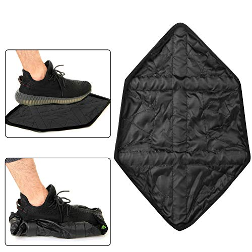 8PCS/4Pair Hands Free Shoe Covers, Step in Sock Shoes Cover, Reusable Waterproof Washable Non-Slip Shoe Covers for Sneakers& Boots for Floor Carpet Overshoes,Black (Overshoe Boots)