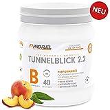 TUNNELBLICK 2.2   Power • Fokus • Pump   Pre Workout Booster   DAS ORIGINAL von ProFuel ®   mit Guarana, Beta-Alanin & Tyrosin   360g - 40 Portionen   ICE TEA PEACH (Eistee Pfirsich)