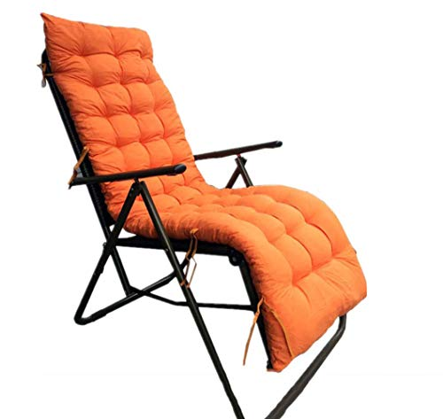 DADAO Outdoor-IndoorChaise Lounger Kissen, Seat/Back Chair, Fashions Lounge Cushion, Spring/Summer Seasonal Ersetzen Cushions-8cm dick,Orange,61x19inch - Outdoor Chaise Lounge-set