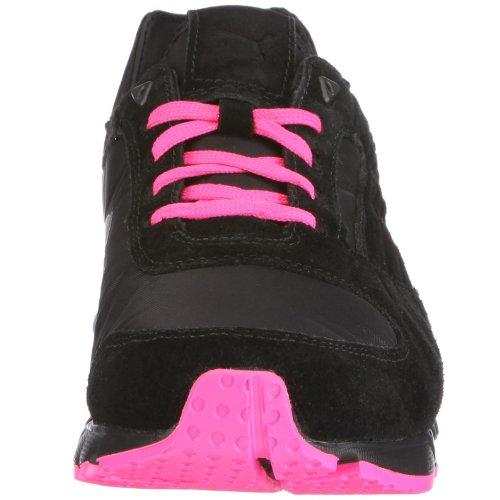 Puma 185002 09 YugoRun N, Herren Sneaker Schwarz (Black-Fluo Pink)