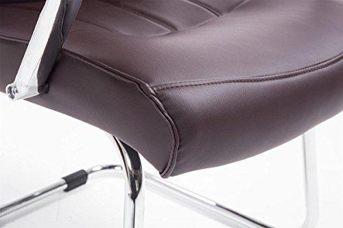 CLP Besucher Freischwinger-Stuhl BASEL V2 mit Armlehne – gepolstert braun - 7