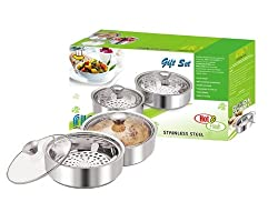 NanoNine Mini Insulated Chapati Casserole Gift Set, Set of 3