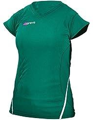 Grises para mujer cuello en V G650 Camisa del ho - Green - UK 14 / US 10 / EU 42
