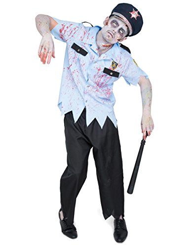 Polizisten Zombie Kostüm für (Kostüm Polizist Zombie)