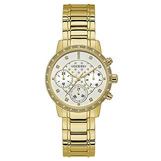 Guess Reloj Multiesfera para Mujer de Cuarzo con Correa en Acero Inoxidable W1022L2