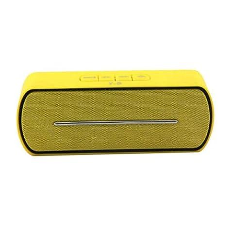 Beweglicher drahtloser Bluetooth Lautsprecher, Stereo im Freien freihändiger Musik-Ton-Kasten Unterstützungs-TF-Kartenspiel, USB-FM Lautsprecher für intelligentes Telefon , yellow