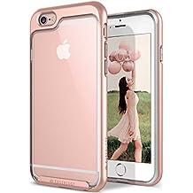 Funda iPhone 6S Plus, Caseology [serie Skyfall] cubierta protectora transparente clara delgada antiaranazos con marco protector [Oro Rosa - Rose Gold] para Apple iPhone 6S Plus (2015) & iPhone 6 Plus (2014)