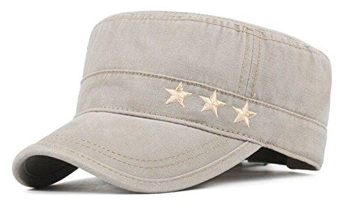 Tejado Plano Sombreros Militar Gorra Beisbol Ajustable Sombrero de Sol NO-22 (Beige)