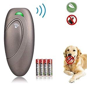APoony Anti-aboiement Ultrason Dispositif de contrôle d'aboiement de Chien Sonic Dispositif Anti-aboiement Système de contrôle Anti-Aboiement Enseignement Ultrason pour Chiens