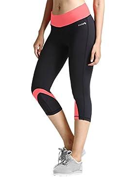 Baleaf Damen Capri Leggings 3/4 Yogahose Yoga Workout Laufen