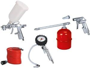 Einhell 41.327.20 Set di 5 Accessori, Metallo, Compressore, Rosso/Bianco/Metallico