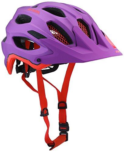 ALPINA Damen Carapax Fahrradhelm Purple-neon-red 52-57