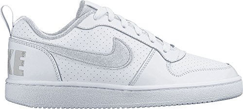 Nike Court Borough Low (Gs), Scarpe da Basket Bambino Bianco (White/white-white)