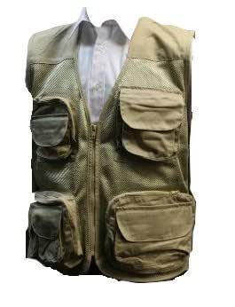 Stormkloth Adults Mesh Multipocket Fishing Vest Beige S
