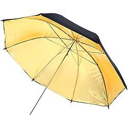 Rollei Pro Reflector Umbrella Gold 83 cm - Parapluie réflecteur Professionnel doré 83 cm - Parapluie réfléchissant doré, pour la Photographie de Portrait, de Personnes ou de Mode - Noir/Or