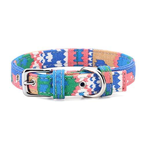 Petween Klassisches Hundehalsband für Katzen, Welpen, kleine und mittelgroße Hunde (Benutzerdefinierte Leder Kostüm)