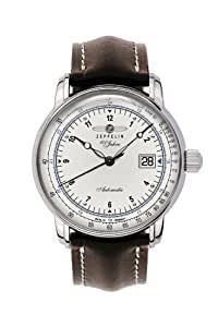 Zeppelin Watches Men's Automatic Watch Watches 76641S with Leather Strap