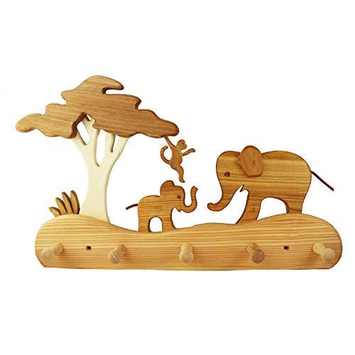 Kindergarderobe aus Holz | Elefant Kindermöbel, Kindergarderobe aus Holz | Garderobe
