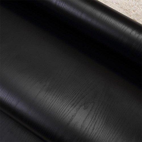 Zhzhco Verdickt Sich Pvc Selbstklebend Tapeten Tapeten Wasserdicht Möbel Dekoration Aufkleber Schwarz Holzmaserung Aufkleber 1,22 Breite 3 Meter Lang