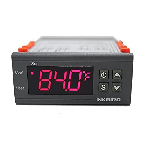 Inkbird 220V All-Purpose 2 Relays Digital Temperature Controller Thermostat + Sensor, Heating Cooling Control for Homebrewing, Hatching, Fermentation,Egg Incubation, Oil Filled Radiators
