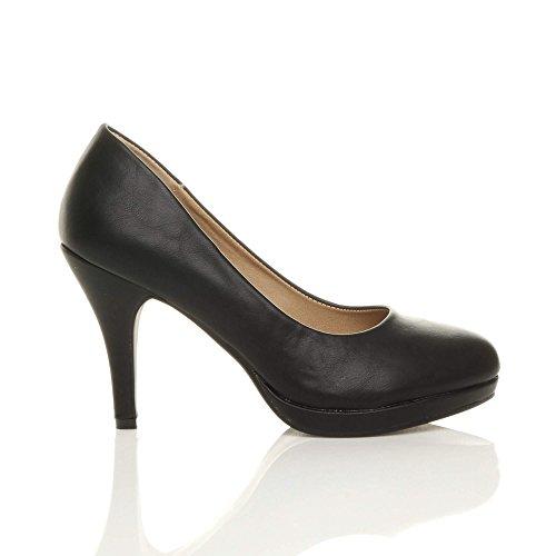 Tacón Alto De Mediados De Trabajo De Las Mujeres Del Partido Del Mediados De Trabajo De La Tarde Talla De Zapatos De Color Negro Matt
