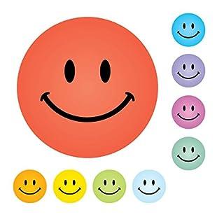 LK Trend & Style Smiley Sticker Belohnungssticker Belohnungssysteme Kindersticker Aufkleber Emoji Auswahl ✔️ (Smiley groß 9 Farben)