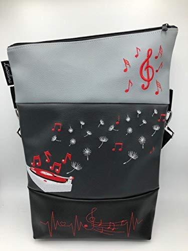 Handtasche Musik Plattenspieler Tasche Foldover Schultertasche (Plattenspieler Moderne)