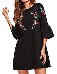 POLP Vestidos Cortos Mujer,Vestido Fiesta Mujer,Tallas Grandes Vestidos,Ropa otoño Mujer