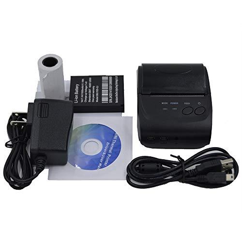 HCFKJ TOOL, US SHIP Mini 58mm Bluetooth Drahtlose Mobile POS 5802DD Thermobondrucker (BK) Bk Mobile