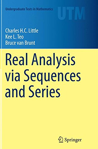 Real Analysis via Sequences and Series par Charles H.C. H.C. Little