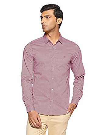 United Colors of Benetton Men's Casual Shirt (8903975249653_16A5RV15Q5Y8I_Large_Light Red)