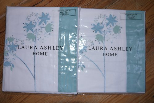 set-of-2-x-new-laura-ashley-pillow-cases-agapanthus-floral-green-teal-white-pillowcase-bed-linen-bnw
