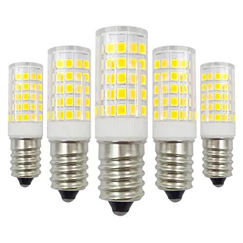 E14 LED Kaltweiß 12V Glühbirne 4W Ersatz 40W Halogen Birnen 6000K Nicht Dimmbar Niedervolt Kandelaber Lampen - 5 Pack [MEHRWEG] - Watt-kandelaber-sockel Licht Lampen