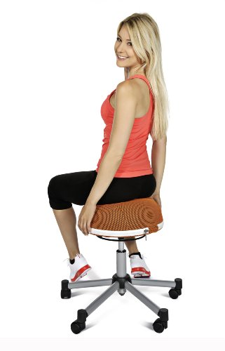 Topstar SH17BB0 Fitness-Hocker Sitness Half Ball /Stoffbezug, schwarz - 2