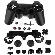 Reemplazo Carcasa Caso Botones Completo Kit de Accesorios para Sony PS3 Controlador Negro