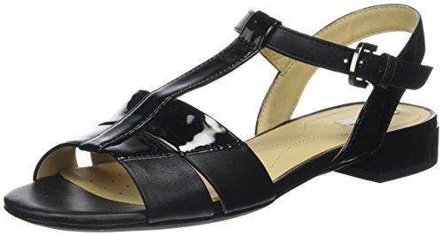 Geox D Wistrey Sandalo D, Salomés Femme Noir (BLACKC9999)