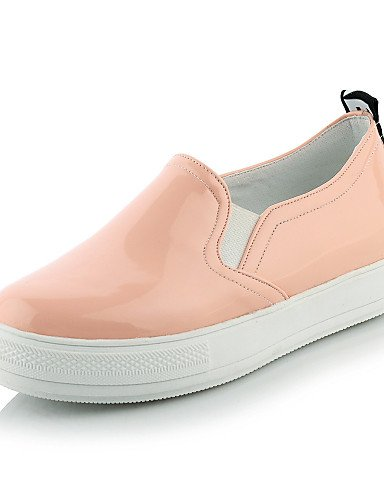 ZQ gyht Scarpe Donna-Mocassini-Casual-Punta arrotondata-Plateau-Finta pelle-Nero / Rosa / Bianco , pink-us11 / eu43 / uk9 / cn44 , pink-us11 / eu43 / uk9 / cn44 black-us5 / eu35 / uk3 / cn34