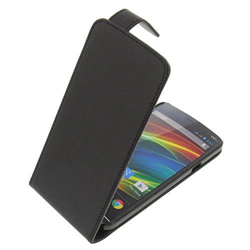 Tasche für Wiko Slide Flipstyle Schutz Hülle Handytasche schwarz