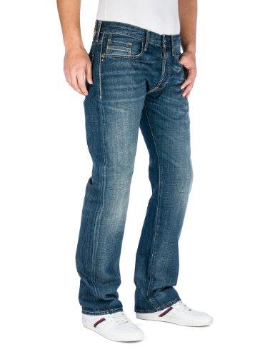 Replay Herren Straight Leg Jeanshose Billstrong M955 Blau (9)