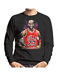 Sidney Maurer Original Portrait of Michael Jordan Chicago Bulls Vest Mens Sweatshirt