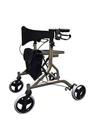 Falcon Lightweight Aluminium Rollator 5.5kg - Champagne - (Eligible for VAT relief in the UK)