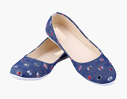 9b188a62cc10 RGK s DENIM PARTY WEAR CASUAL FASHIONABLE BELLIES SHOES JUTTI FOR WOMEN  GIRLS (RGK-103