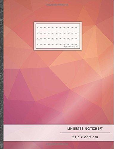 "Liniertes Notizbuch • A4-Format, 100+ Seiten, Soft Cover, Register, Mit Rand, ""Rote Dreiecke"" • Original #GoodMemos Lined Notebook • Perfekt als Tagebuch, Schulheft, Deutschheft, Lineatur 27"