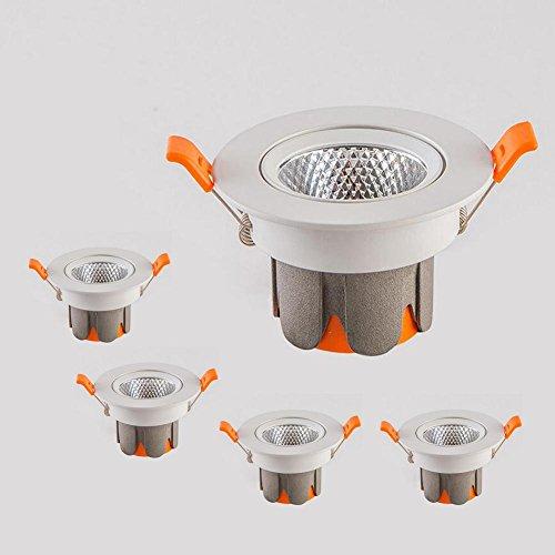 OOFAY LIGHT® 4-Pack, 12W LED Einbau Deckenleuchte Ultra Bright Spotlight 120 Lumen Aluminiumguss Shell 5730 SMD COB Downlight , warm white 3000K