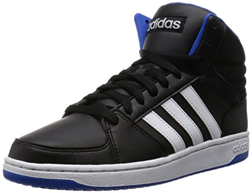 adidas Herren Hoops Vs Mid Basketballschuhe, Mehrfarbig (Cblack/Ftwwht/Blue), 45 1/3 EU (Sneaker Mid Basketball)