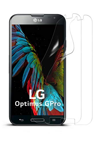 moex 2X LG E986 Optimus G Pro | Schutzfolie Klar Display Schutz [Crystal-Clear] Screen Protector Bildschirm Handy-Folie Dünn Displayschutz-Folie für LG Optimus G Pro Displayfolie (Pro Protector Optimus Screen Lg)