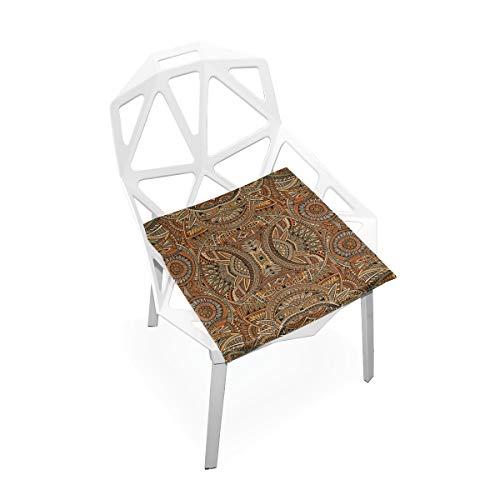 Enhusk Große Stuhl Kissen Abstract Vector tribal ethnischen Nahtlose weiche rutschfeste Memory Foam Stuhl Pads Kissen Sitz für Home küche Schreibtisch 16x16 Zoll gepolsterte stühle -