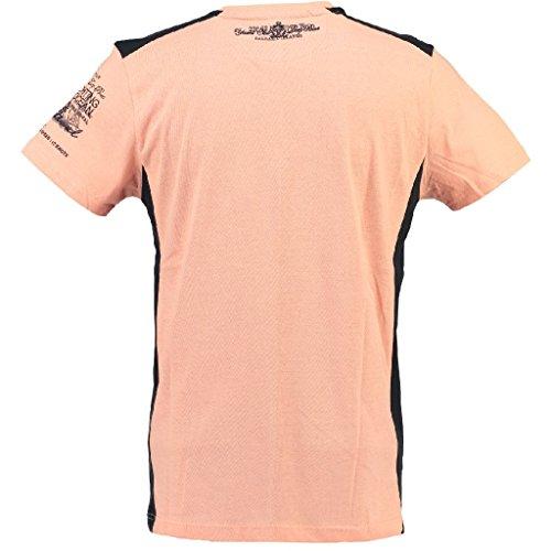 Geographical Norway V-Neck Herren T-Shirt JANFIELD MEN Peach