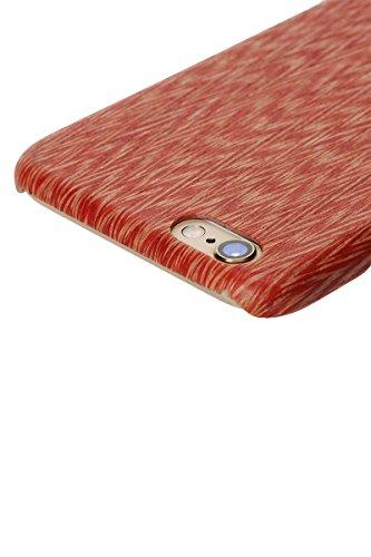 PITAKA iPhone 6 Plus / iPhone 6s plus Étui de case dur Rugged Slim bois naturel pour iPhone 6 Plus / iPhone 6s Plus (5,5 pouces) - Sapele Bois Bois Aile De Poulet